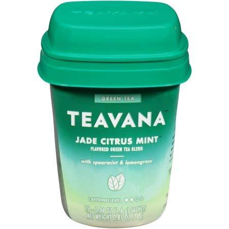 Teavana Jade Citrus Mint Flavored Green Tea, 15 Tea Bags,( total 1.96oz), pack of 1