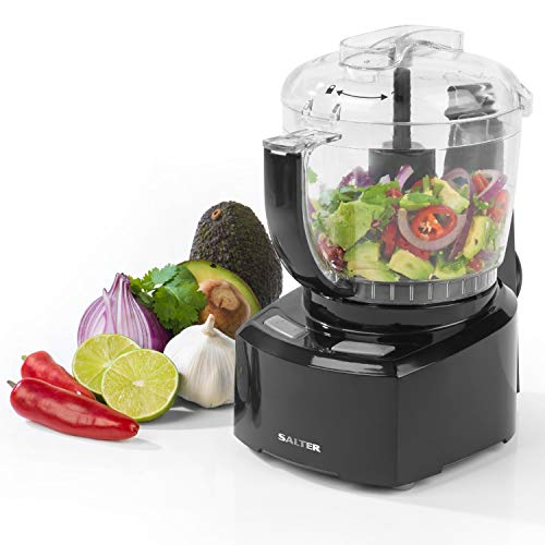 Salter EK3171 8-in-1 Compact Prep Pro Mini Food Processor, 1 L, 200 W, Black