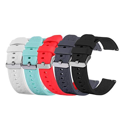 Chofit Correas compatibles con LETSCOM ID205L/ID205S/ID205G, correa de silicona de repuesto suave para reloj inteligente LETSCOM (5 colores)