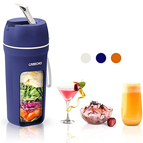 GREECHO Portable Blender, One-handed Drinking Mini...