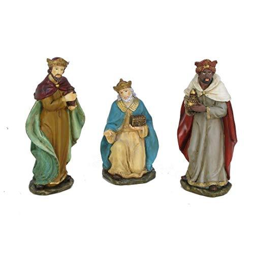 Oliver Art - Figuras 3 Reyes Magos 15 cm marmolina