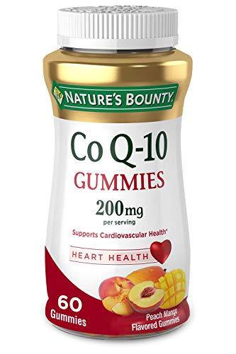Nature's Bounty CoQ-10 Gummies, Heart Health, 200mg, Peach-Mango Flavored, 60 each