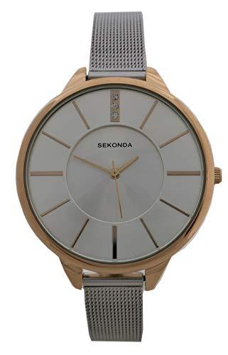 Sekonda Reloj analógico de malla para mujer 2595