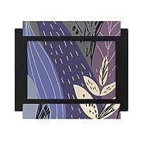 植物葉抽象芸術のパターン デスクトップフォトフレーム画像ブラックは、芸術絵画7 x 9インチ