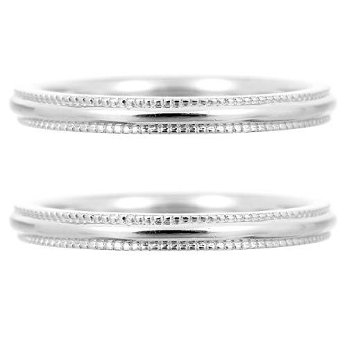 [ココカル]cococaru ペアリング シルバー リング2本セット マリッジリング 結婚指輪 日本製 (レディースサイズ18号 メンズサイズ7号)