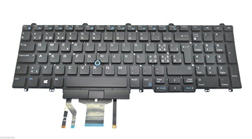 Dell Precision 7510 Swiss European QWERTZ Backlit Keyboard GYP2N