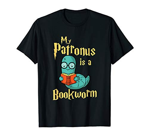 My Patronus Is A Bookworm - Funny Book Lover Gift & Reading T-Shirt
