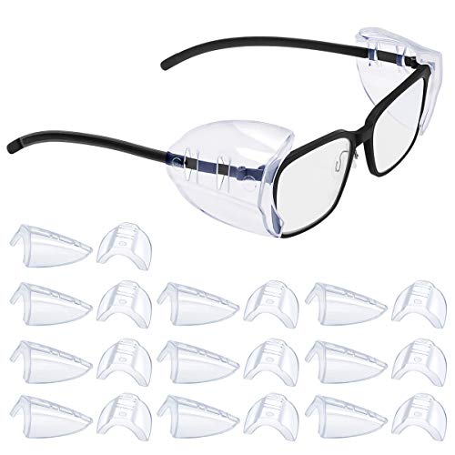 2/4/6/10 Pairs Glasses Side Shields for Eye Glasses,Safety Glasses with Side for Eye Protection-Fits Small to Medium Eyeglasses (10)