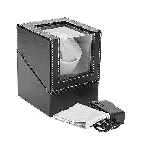 AYNEFY Caja de almacenamiento para relojes automáticos, 100 – 240 V, para relojes automáticos, caja expositora de lujo – (12 x 13 x 16 cm)