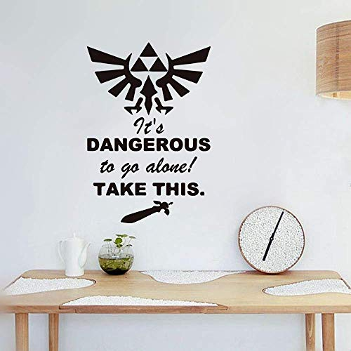 Peel and Stick Removable Wall Stickers It is Dangerous to Go Alone Take This for Game Room Play Room Boys Room