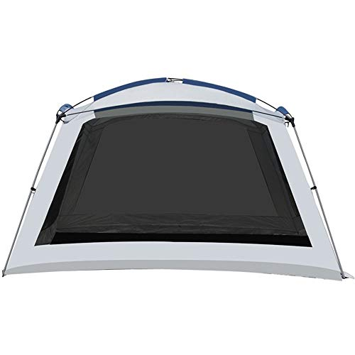 QinWenYan Outdoor Tents Outdoor Canopy 6-10 People Large Space Leisure Folding Beach Shade Pergola Rainproof Sunscreen Fishing Tent (Color : Off-white, Size : 365x365x220cm)
