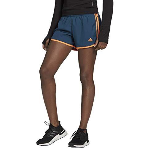 adidas Marathon 20 Short Pantalones Cortos, Wild Teal/Screaming Orange, S para Mujer