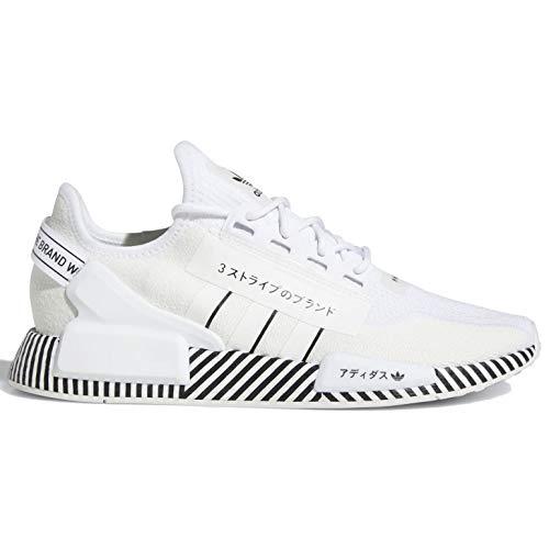 adidas Originals NMD R1 V2 - Zapatillas de correr para hombre, Blanco (blanco/negro/blanco), 44.5 EU