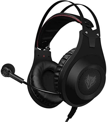 Gaming Headset für Xbox One PS4 Playstation 4, Kopfhörer Computer PC Mic Stereo Fortnite Gamer-Mikrofon für Skype Xbox EIN s Xbox 1 x Nintendo-Switch Spiele,Schwarz