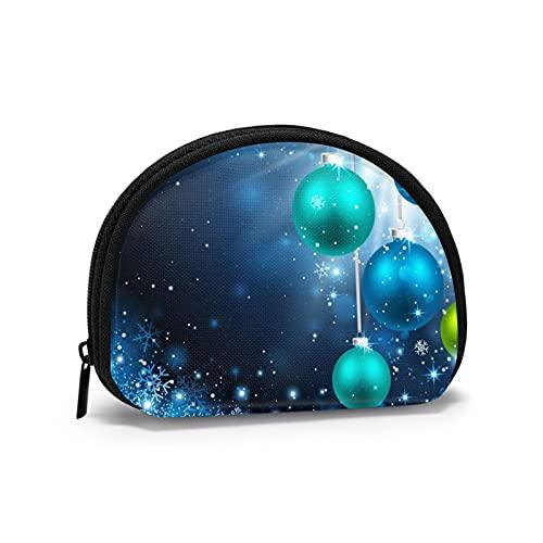Coin Purses Christmas Decor Balls Pouches for Purse Men Handy Bag Keys Holder Portable Mini Change Wallets for Women Girls 4.7 X 3.5 Inch