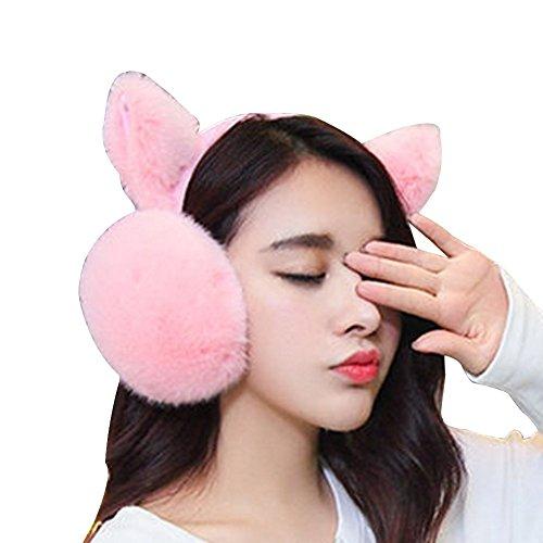 Leier Frauen Kaninchen Katze Ohren Cartoon Warmers Winter Essential Gehörschutz Faltbare Ohrenschützer