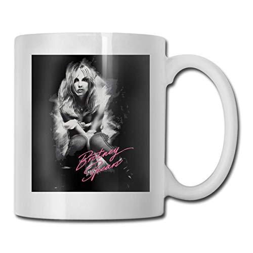 haoqianyanbaihuodian Britney Spears - Taza de café de cerámica para hombres y mujeres, 15 onzas