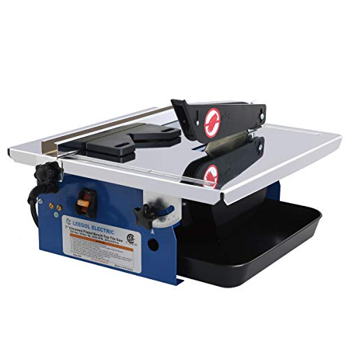 Leegol Electric 7-Inch Wet Tile Saw - Portable Wet Cutting...