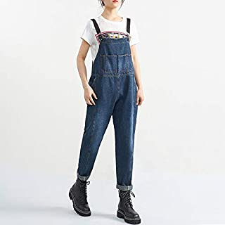 Duanguixia by Age Girl Perception to wear Clothing with Big Legs Straight Jeans Denim Strap