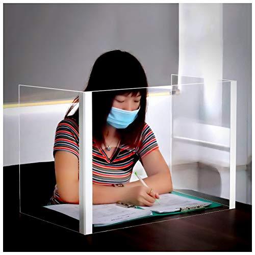 Wmeat-P Escudo Protector contra Estornudos,Escudo De Plexiglás Acrílico,por Cafés/Tiendas/Cajero/Oficina/Sala de Espera/Restaurante/Contado