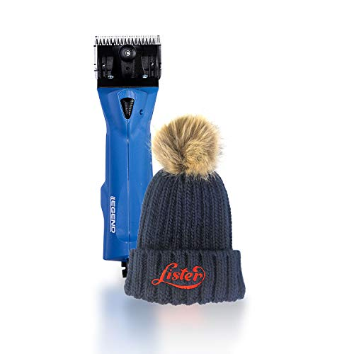 Lister Legend Large Animal Clipper with Fine Blade for Horses, Cattle, Sheep, and Livestock (#258-37022) with Limited Edition Beanie Hat