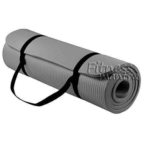 Fitness Mantra® Yoga Mat with Strap for Gym Workout and Yoga Exercise with 6mm Thickness, Anti-Slip Yoga Mat for Men & Women...