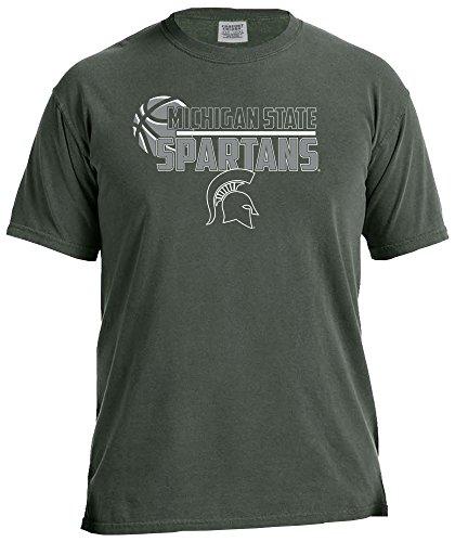 Image One NCAA - Camiseta de Manga Corta con Logotipo de Baloncesto, Unisex, 16265-C1717, Willow, X-Large