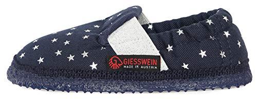 GIESSWEIN Kinderhausschuhe Alfter - Baumwoll Slipper für Mädchen, niedlicher Hausschuh mit weicher Sohle, Gummizug, Latex Sohle, rutschfest, sicherer Halt