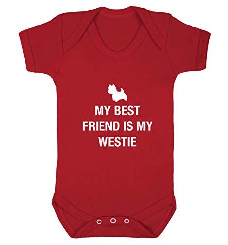 Flox Creative Gilet pour bébé Best Friend Westie - Rouge - XS