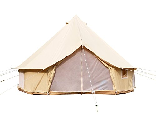 Safaricamping outdoor four-season family camping waterproof bell tent with...