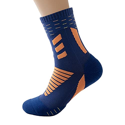 Xingli Calcetines deportivos, 2 pares de calcetines antideslizantes para ciclismo, baloncesto, fútbol, nailon, ropa deportiva, accesorios de senderismo, para hombre