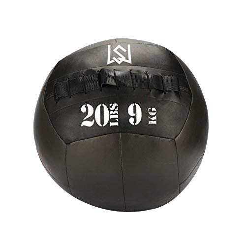 Medicine Ball,Wall Ball for Slamming--Surface Non-Slip Material-Exercise Ball Set for Crossfit-Plyometrics-Core Training and Cross Training Lunge, and Partner Toss(10/14/16/20/25lbs)