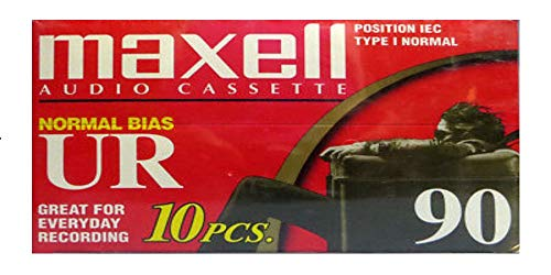 Maxell Ur-90 Normal Bias Audio Cassette 90min (Pack of 10 - 90 Minute Tapes