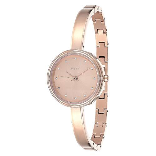 DKNY Damen Analog Quarz Uhr mit Edelstahl Armband NY2600