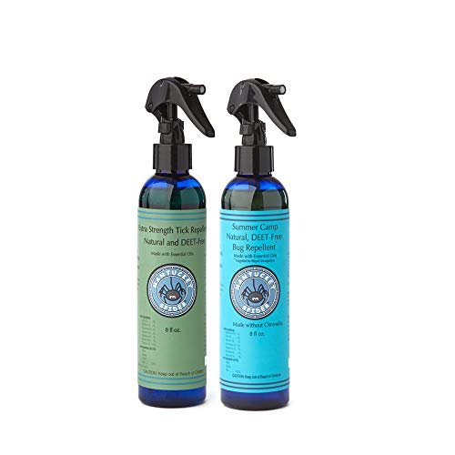 Nantucket Spider Value Pack   8oz Extra Strength Tick Repellent Spray + 8oz Natural Bug Repellent Spray for Kids   Deet Free with Organic Essential Oils   Repels Ticks, Mosquitoes and Flies