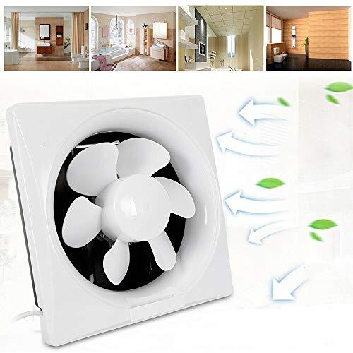 220V Lüfter Badezimmer Silent Sauglüfter Rohrventilatoren Wandventilator Extractor Abluftventilatoren Gebläse WC Küche Weiß (12