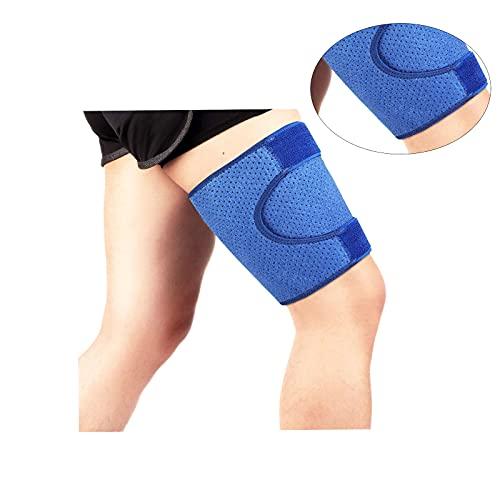 Sujeción de los muslos, Muslera y soporte de compresión para muslo manga para muslo, alivio del dolorpara muslo tensiones, hinchazón, músculos rasgados, lesiones deportivas ⭐