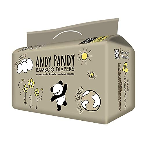Andy Pandy Bamboo Disposable Diapers Small, White, 8-16 lbs, 36 Count