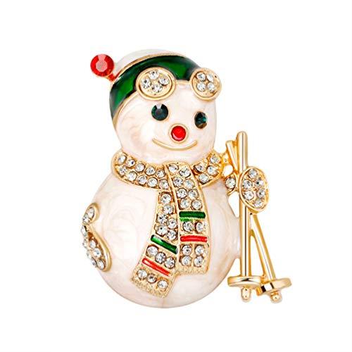 Amosfun - Broches de regalo para mujeres de la caricatura del broche de Navidad, lápices de colores para aditivos DIY de la mochila de la ropa, accesorios de chaqueta, accesorios