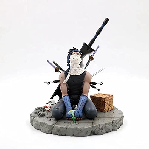 JINFENFG Naruto/Momochi Zabuza/Figura de Anime Barra de Hombre Rojo, Fantasma Oculto de Niebla, 19 cm (7,49 Pulgadas) / Estatua estática de PVC/Muñeca Modelo de Personaje de Juguete/Regalo de