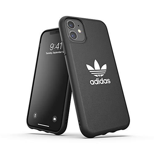 adidas Funda Original Compatible con iPhone 11, Carcasa Protectora de TPU Moldeada, Color Negro