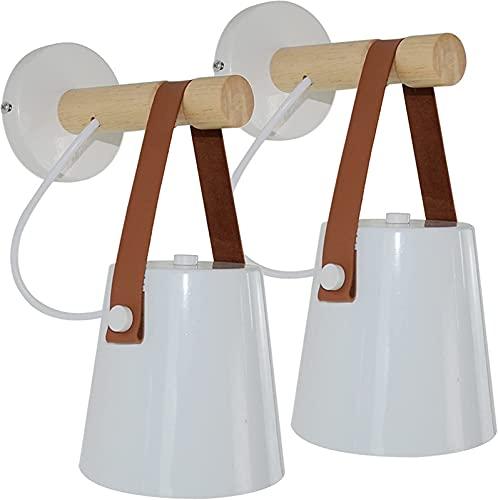 ZJDM Aplique de Pared con cableado, lámpara de Pared Vintage con Base...