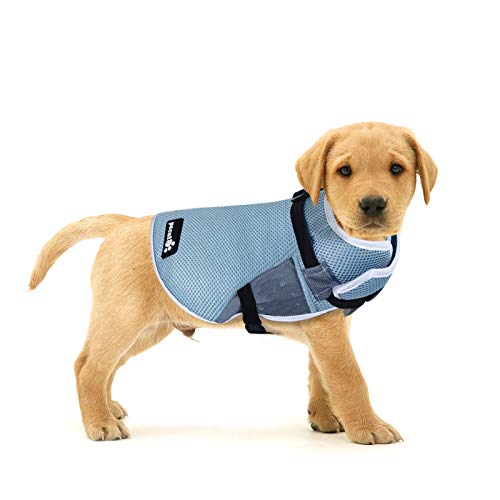 Pecute Dog Cooling Vest Harness Evaporation Cooler Coat for Pets, UV Protection Dog Cooling Jacket for Outdoor Hiking Training, 4 Sizes with Adjustable Elastic Straps Suit for All Kinds of Dogs