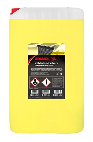 ADAMOL 1896 01260249 Kühlerfrostschutz fix & fertig -38°C 25L, Gelb