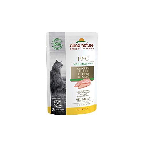 almo nature HFC Natural Plus nass für Katzen - Hühnerfilet 55g x 24 Stück, 1er Pack (1 x 1.7 kilograms)