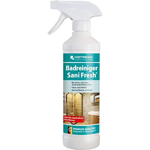 HOTREGA Badreiniger Sani Fresh 500 ml Sprühflasche, Sanitärreiniger, Armaturenreiniger