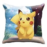 Coussin Imprimé Pokemon Double Face Coussins pour Canapé Décoration De Chambre d'enfants Pikachu Coussin De Chaise Arrière Dropship - Style2,40X40cm (Couverture De Juct)