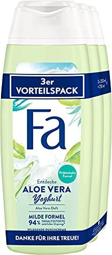 Fa Pflegendes Duschgel Aloe Vera Yoghurt mit dem angenehm-pflegenden Duft von Aloe Vera 3er, 750 ml