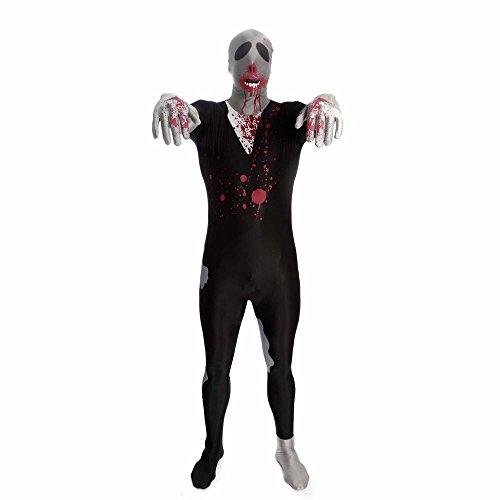Costume Carnevale Halloween Tuta ufficiale Morphsuit Zombie - horror uomo donna