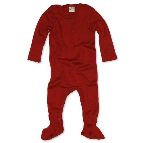 Lilano Lilano Schlafanzug - Overall, Größe 50, Farbe Rot von Wollbody® - 70% Schurwolle kbT, 30% Seide - Vertrieb nur durch Wollbody®